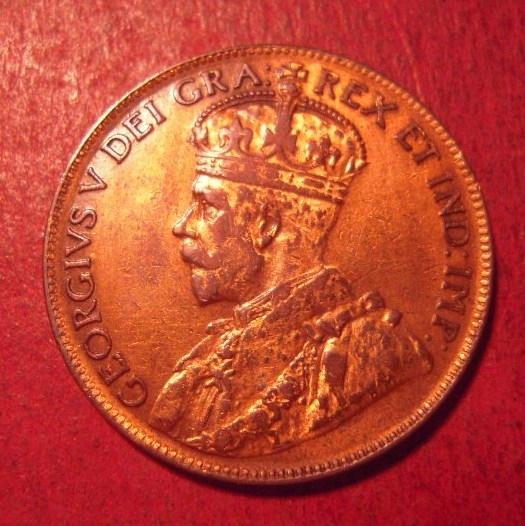 Canada - George V , 1 Cent 1920     KM21 (12538)