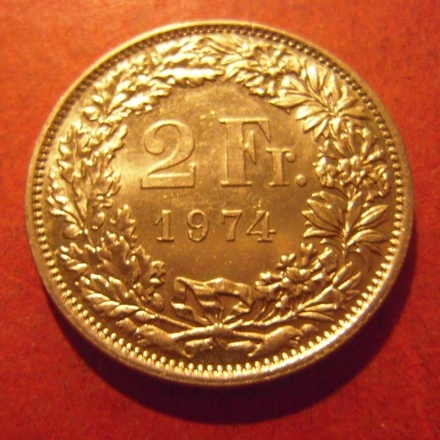 2 Franken 1974      KM21a (11996)