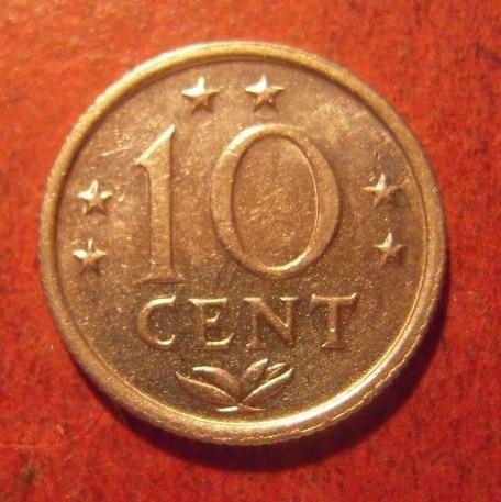 Netherlands Antilles , Juliana , 10 Cent 1971     KM10 (11490)