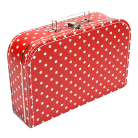 Suitcase RED / WHITE DOTS 30 cm