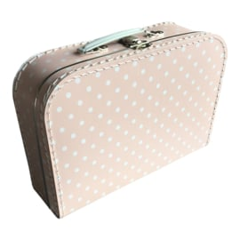 Suitcase PINK / WHITE DOTS 30 cm