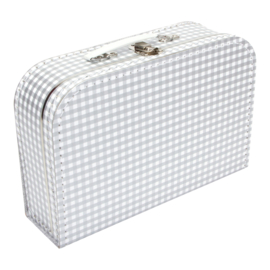Suitcase SILVER / WHITE SQUARES 30 cm