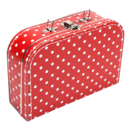 Suitcase RED / WHITE DOTS 25 cm