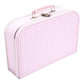Suitcase PINK / WHITE SQUARES 30 cm