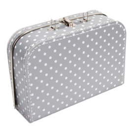 Suitcase SILVER / WHITE DOTS 30 cm