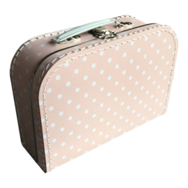 Suitcase PINK / WHITE DOTS 25 cm