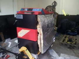 Repareren lekke Attack 75 kW houtvergasser Te Aalsmeer