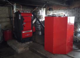 Installeren 30 kW Atmos Pelletketel