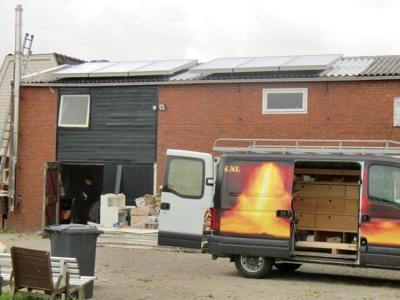 Zonneboiler voor sanitairwarmwater en verwarmingsondersteuning