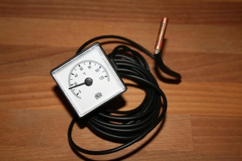Termometer met lange afstands voeler 0-120 C capillairbuis 4 meter