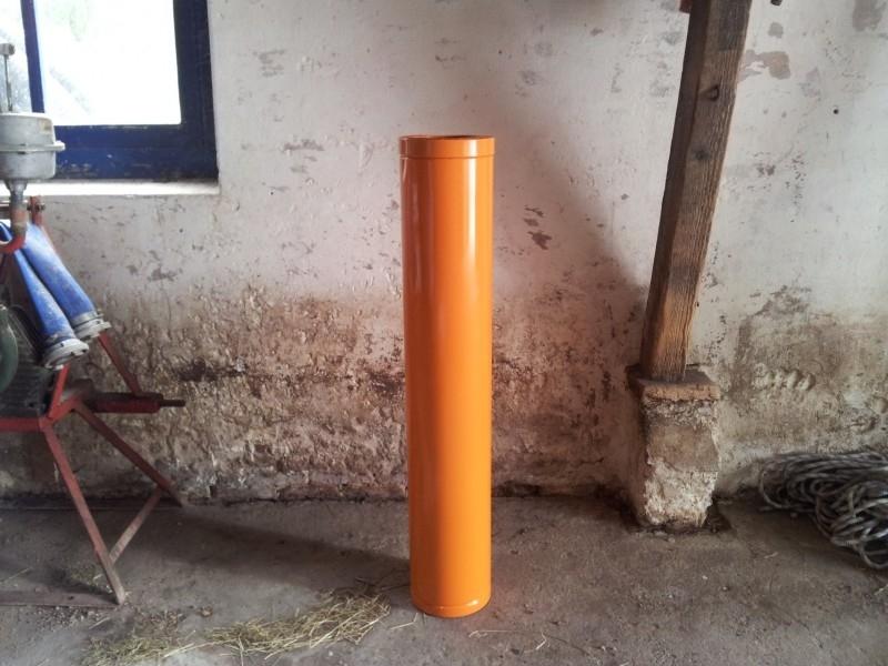 Rookgasafvoer kanaal in kleur / dubbelwandig geisoleerd