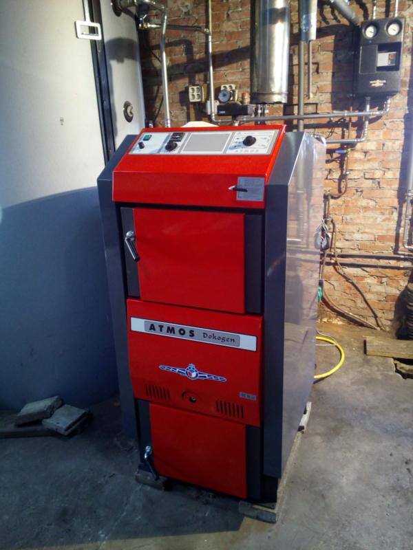50 kW Atmos houtvergasser, leveren, installeren en opstoken