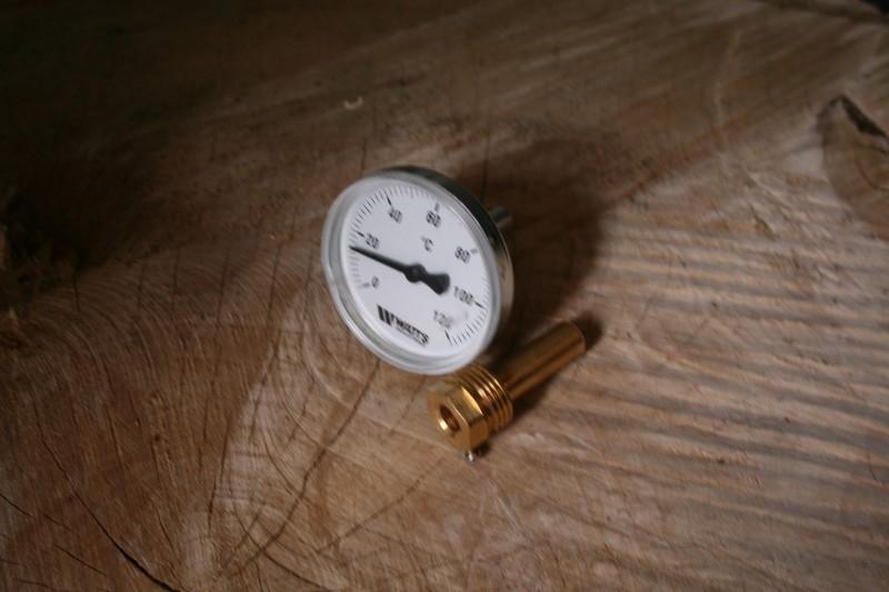 "Temperatuurmeter met 1/2"" dompelbuis"