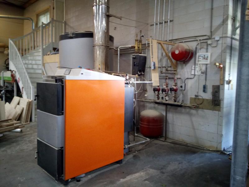 Verplaatsen van een 100 kW houtvergasser
