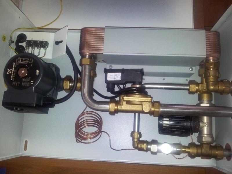 Warmwaterbereider in plaats van boiler voor opwarmen warm sanitair water LK Acaso