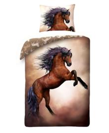 Dekbedovertrek Wild Horse (brown) 140x200