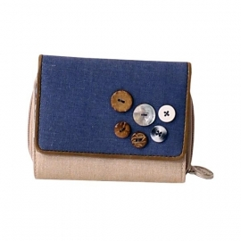 Stapelgoed Wallet Natural (blue)
