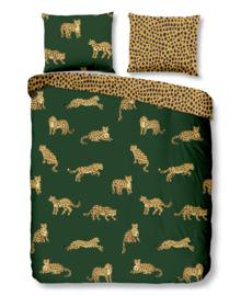 Good Morning Dekbedovertrek Leopards (green) 140x200/220