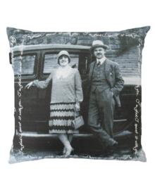 Kardol & Verstraten Sierkussen Perfect Couple (anthracite) 50x50
