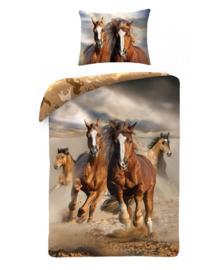 Dekbedovertrek Paarden (bruin) 140x200