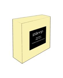 iSleep Hoeslaken Dubbel Jersey (licht geel)
