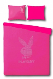 Playboy Dekbedovertrek Strass Silver (soft pink) 140x200/220