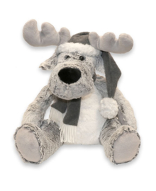 Unique Living Plush Puppet Moose (grey) 33 cm
