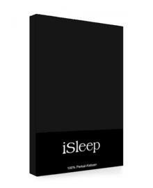 iSleep Kussensloop Perkal Katoen 2 stuks (zwart) 60x70