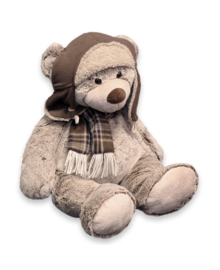 Unique Living Plush Bear Pilot (brown) 37 cm