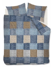 Ariadne at Home Dekbedovertrek Wool Shades (blue) 200x200/220