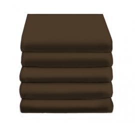 Hoeslaken Satijn Katoen (chocolat)