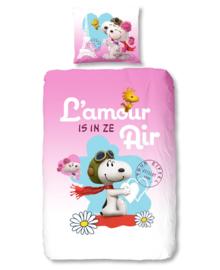 Snoopy Dekbedovertrek L'amour (multi) 140x200/220