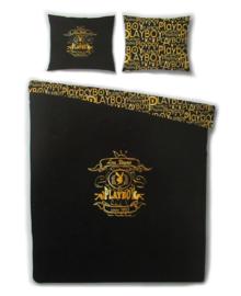 Playboy Dekbedovertrek Crest (gold) 140x200/220