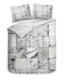 Heckett & Lane Dekbedovertrek Simra (marble grey) 240x200/220