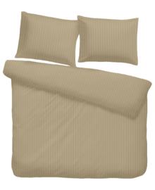 iSleep Dekbedovertrek Satijnstreep (medium beige) 240x200/220