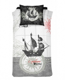 Damai Dekbedovertrek Pirates (black) 140x200