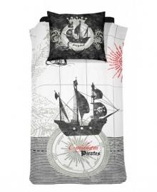 Damai Dekbedovertrek Pirates (black) 140x200