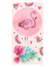 Strandlaken Flamingo Pink Party (roze)