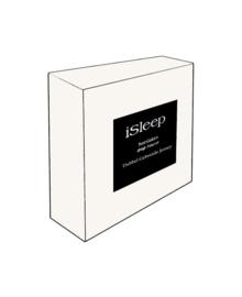 iSleep Split-Topper Hoeslaken Dubbel Jersey (wit)