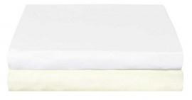 Hoeslakens Ledikant Jersey (crème) 60x120