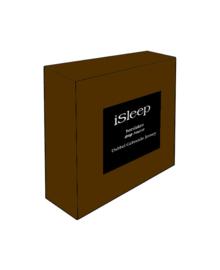 iSleep Hoeslaken Dubbel Jersey (bruin)