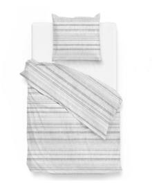 Zo! Home Flanellen Dekbedovertrek Camaro (silver grey) 140x200/220