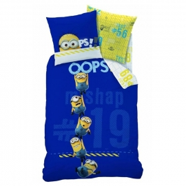 Despicable Me Dekbedovertrek Minions OOPS! (blue) 140x200