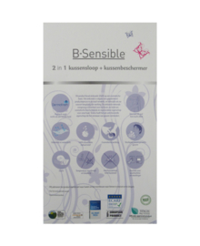 B-Sensible 2 in 1 Kussensloop + Kussenbeschermer (antraciet) 60x70