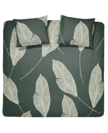 Damai Dekbedovertrek Strelitzia (dark green) 200x200/220