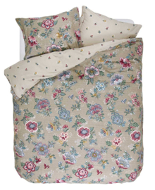 PiP Studio Dekbedovertrek Berry Bird (khaki) 200x200/220