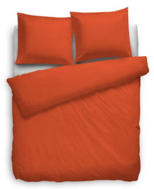 Heckett & Lane Dekbedovertrek Satin Stripe (mecca orange) 200x200/220