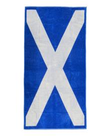 Strandlaken Schotse Vlag (blauw) 100x200