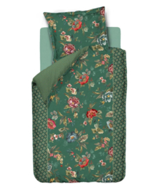 PiP Studio Dekbedovertrek Poppy Stitch (green) 140x200/220