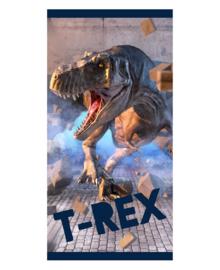Strandlaken T-Rex Power (donker blauw)
